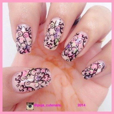 Delicate filigree  nail art by Puja Malhotra