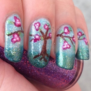 Spring is Coming! nail art by Sparkly Nails by Spejldame