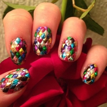 Sparkly Harlekin nail art by Sparkly Nails by Spejldame
