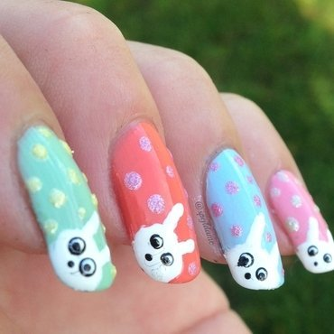 Happy Easter! nail art by Sparkly Nails by Spejldame