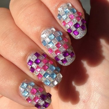 Colorful Chess? nail art by Sparkly Nails by Spejldame