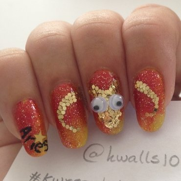 When Aries Pops nail art by Sparkly Nails by Spejldame