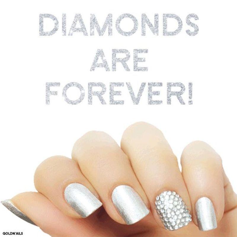 Diamonds Nails nail art by Goldi