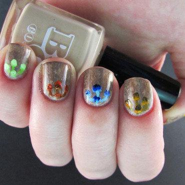 Mushroom Nail Art nail art by Melissa (Clavum Es)