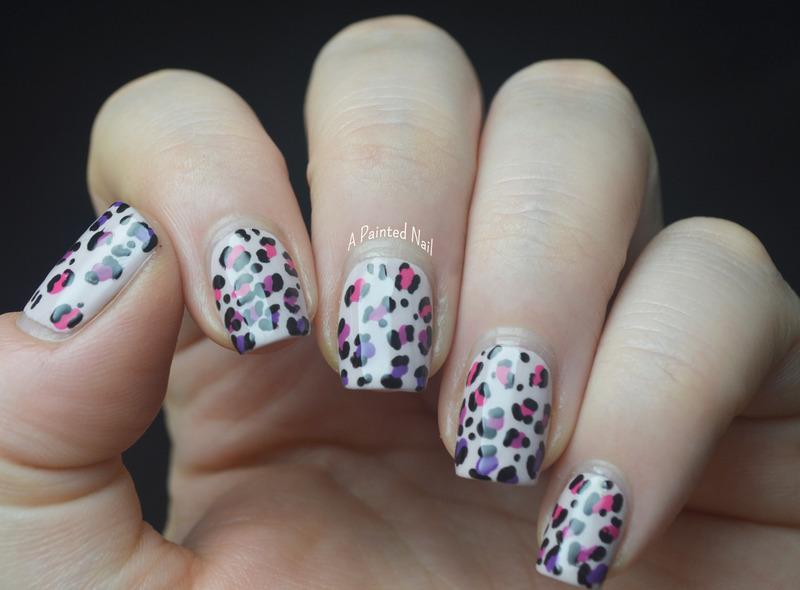 Gradient Leopard Print nail art by Bridget Reynolds