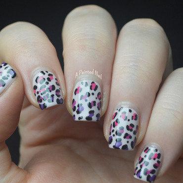 Gradient Leopard Print nail art by Bridget Reynolds