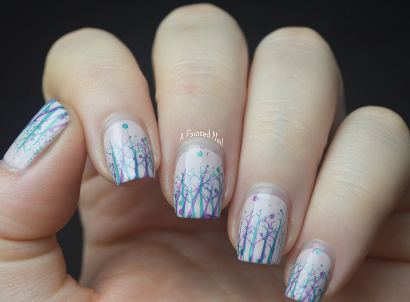 Twinsie Tuesday: Nature nail art by Bridget Reynolds