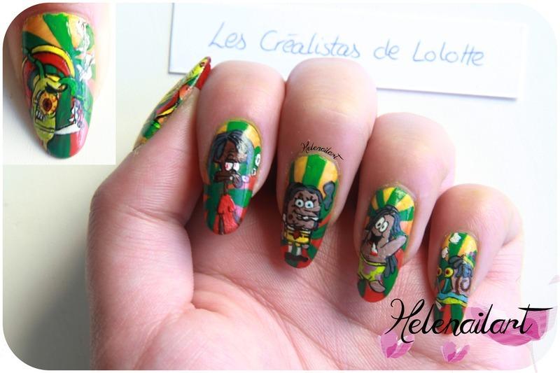 Bob l'Eponge nail art by LÊ Hélène