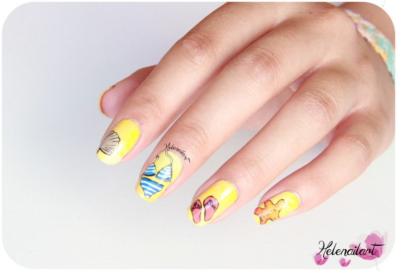 summer nail art by LÊ Hélène