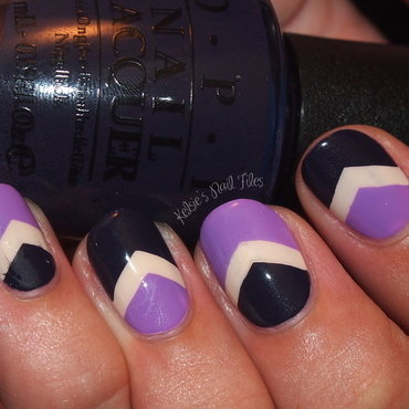 Purple Chevron nail art by Kelsie