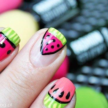Watermelon <3 nail art by Amethyst