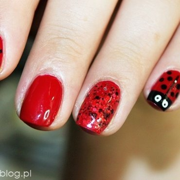 Red summer nails ! nail art by Amethyst