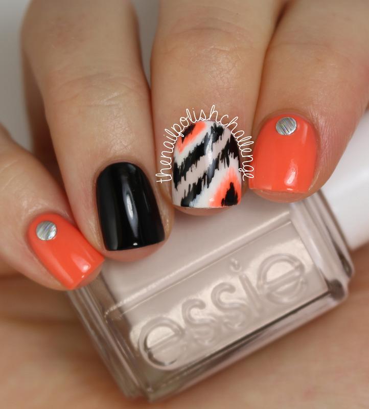 Ikat Skittle Nail Art nail art by Kelli Dobrin