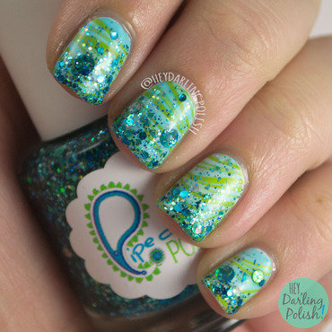 Green blue water marble glitter nail art 4 thumb370f