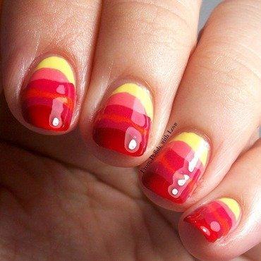 Abstract Sunsets nail art by Dani