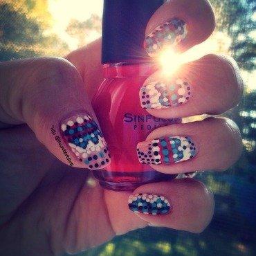Dotty nail art by Tara Huff