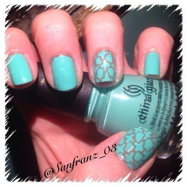 My quatrefoil nail art! nail art by Sandy
