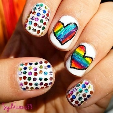 rainbow pride nails nail art by SydVicious