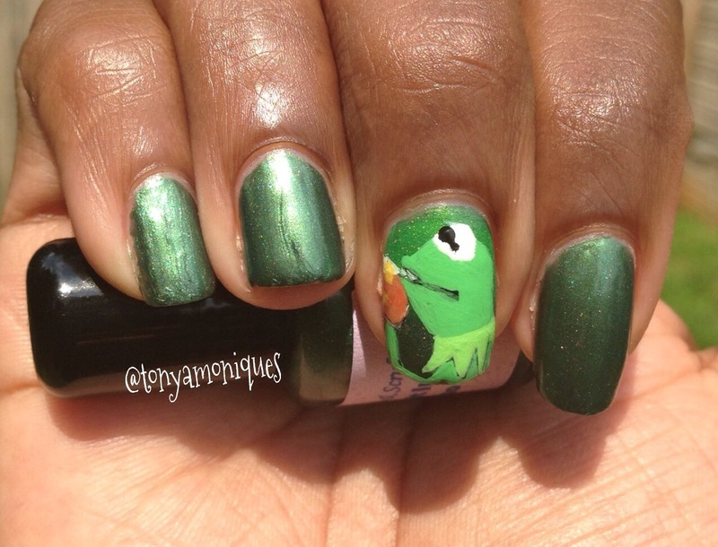 Sassy Polish and Scrubs Kermit in Camo Swatch by Tonya Simmons