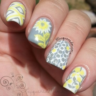 Mix n Match nail art by Jennifer Collins