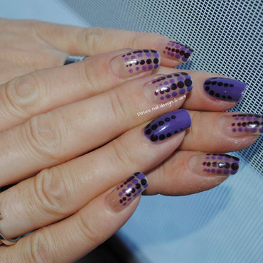 Purple dotting nail art by Ditta