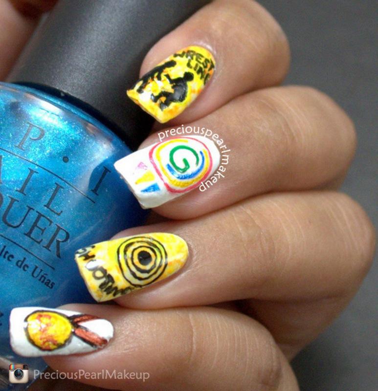 Common Wealth Games Inspired Nails nail art by Pearl P. - Nailpolis ...