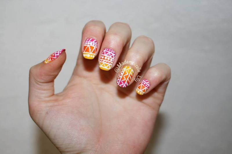 Tribal Nail art nail art by Emilie