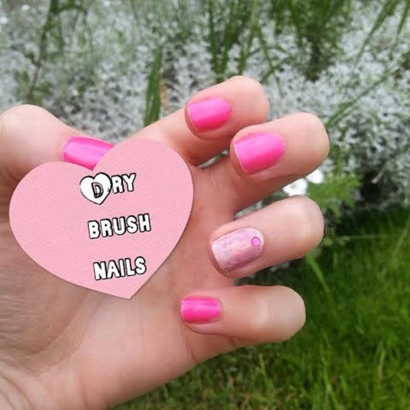 drybrush nail art by Ciara Donoghue