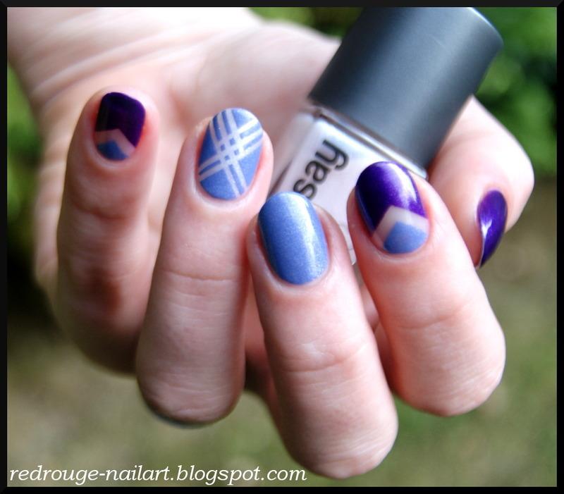 Purple mix nail art by RedRouge
