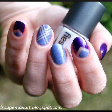 Purple mix nail art by RedRouge