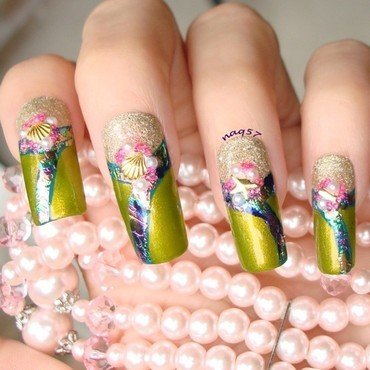 Mermaid Jewels nail art by Nora (naq57)