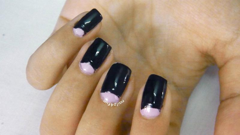 Funky French Maniure nail art by Nailz4fun