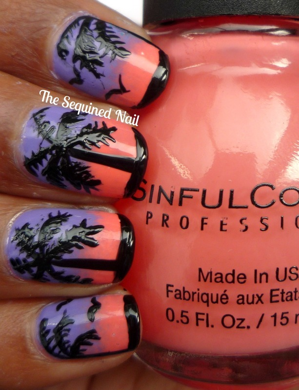 Summer Holiday Nails nail art by TheSequinedNail