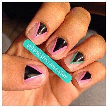 Prism nail art by Vanessa Jenelle