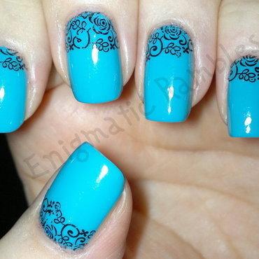 Filigree Cuticle Nails nail art by Enigmatic Rambles