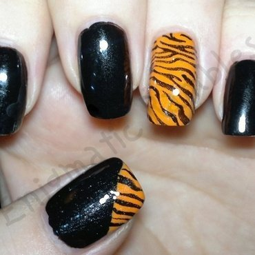Global Tiger Day Nails nail art by Enigmatic Rambles