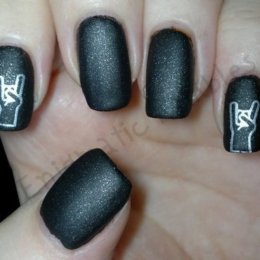Rock Out Nails nail art by Enigmatic Rambles