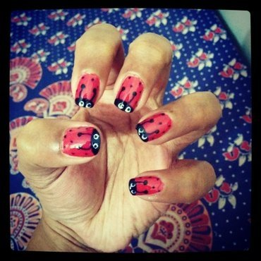 life of bug!  nail art by Nailed It