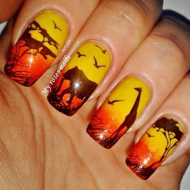Wild Africa nail art by Ewa