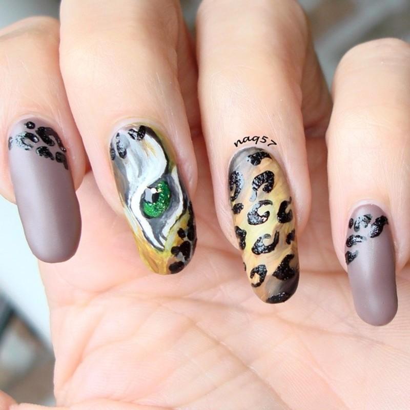 Leopard Eye nail art by Nora (naq57)