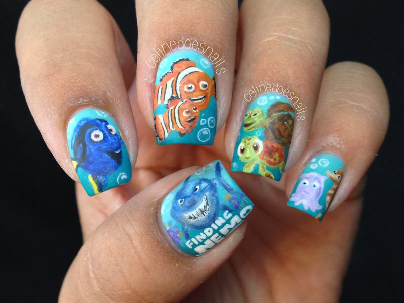 Finding nemo nail art nail art by celine pea nailpolis museum finding nemo nail art prinsesfo Gallery