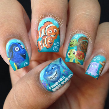 Finding nemo nail art and swatches nailpolis museum of nail art finding nemo nail art nail art by celine pea prinsesfo Gallery