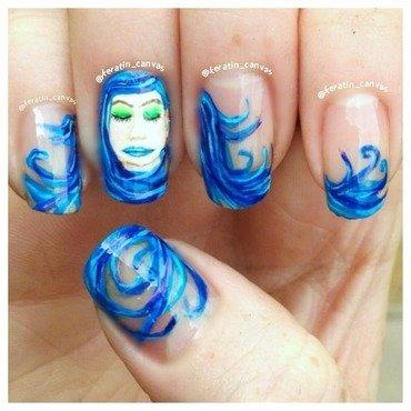 Water Princess nail art by Amanda