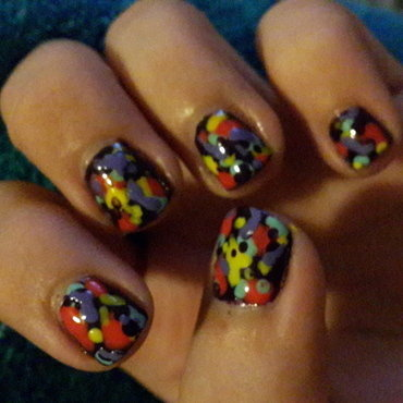 Fake Splatter2 nail art by Renataremedios