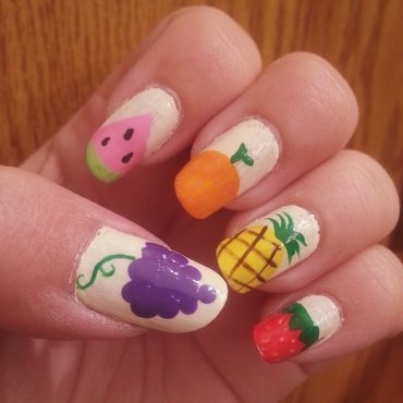 Fruit Salad  nail art by KiboSanti
