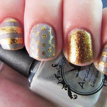 Classy Skittlette Mani nail art by Melissa (Clavum Es)