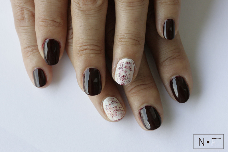 Dry brush nail art nail art by NerdyFleurty