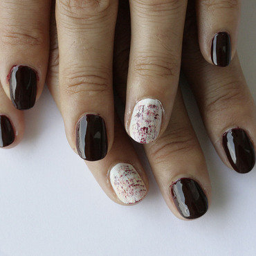 Dry brush nail art nail art by NerdyFleurty
