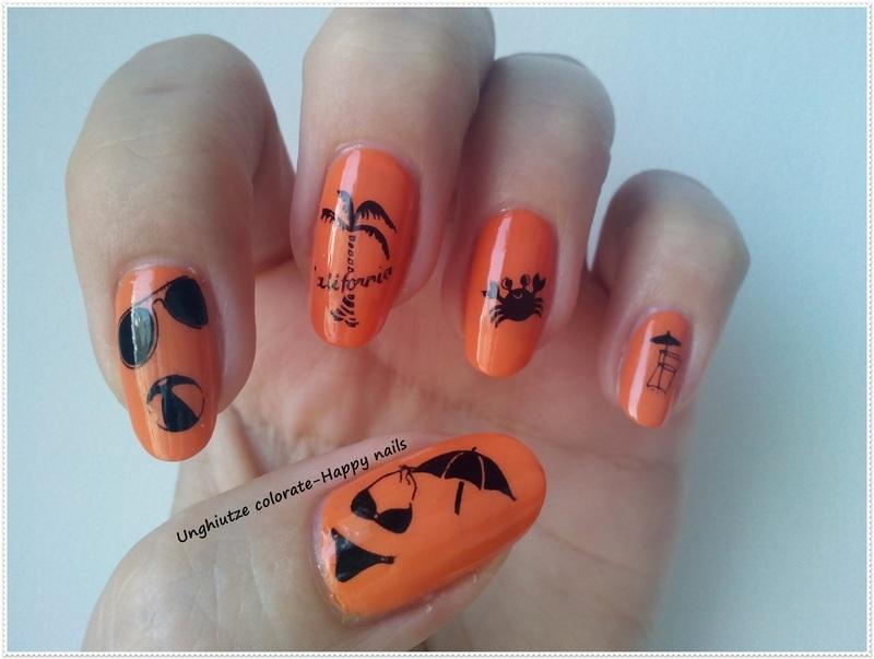 Sunny Beach nail art by Oana  Alexandru