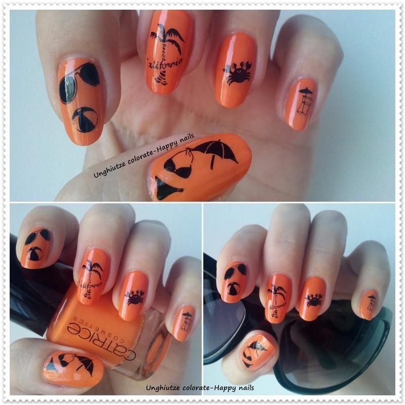 Sunny day nail art by Oana  Alexandru